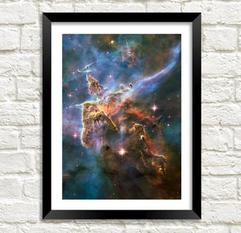 MYSTIC MOUNTAIN PHOTO: Hubble Telescope Space Art Poster