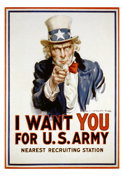 UNCLE SAM POSTER: 'I Want You' Army Recruitment Print - The Print Arcade