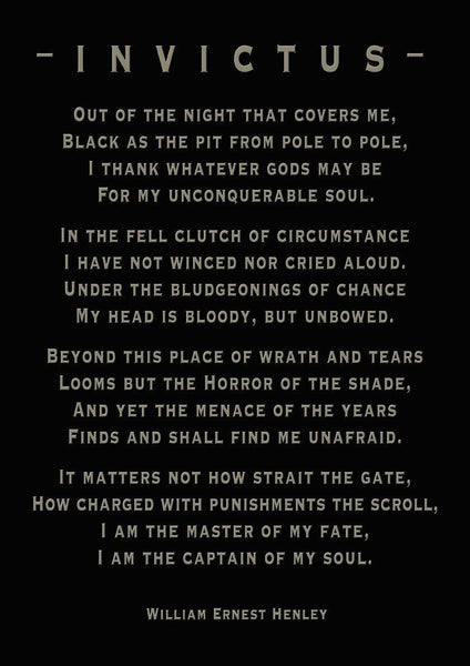 INVICTUS POETRY PRINT: 'Captain of My Soul' Art