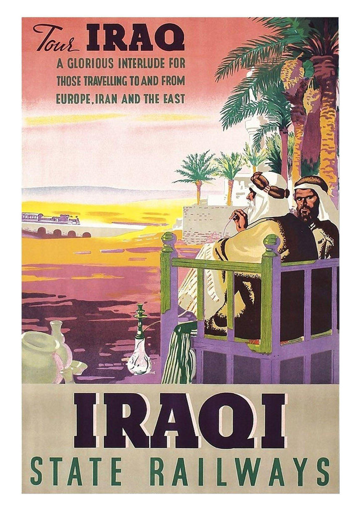 IRAQ POSTER: Vintage Middle East Travel Print - The Print Arcade