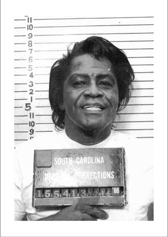 CELEBRITY MUGSHOT: James Brown Print