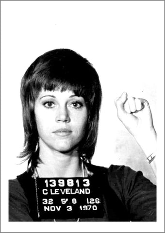 CELEBRITY MUGSHOT: Jane Fonda Print - The Print Arcade