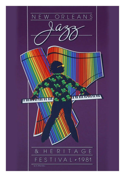 PURPLE JAZZ POSTER: New Orleans Music Festival Print - The Print Arcade