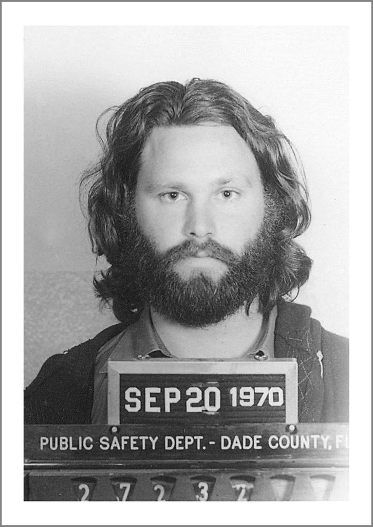 CELEBRITY MUGSHOT: Jim Morrison Print - The Print Arcade