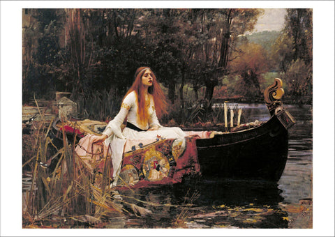 JOHN WILLIAM WATERHOUSE: The Lady of Shalott, Fine Art Print - The Print Arcade