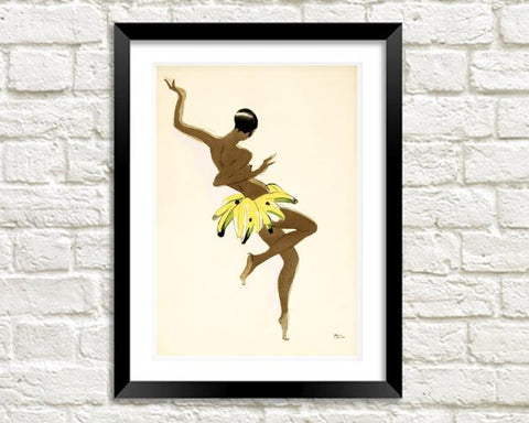 JOSEPHINE BAKER PRINT: Vintage Dancer Illustration - The Print Arcade