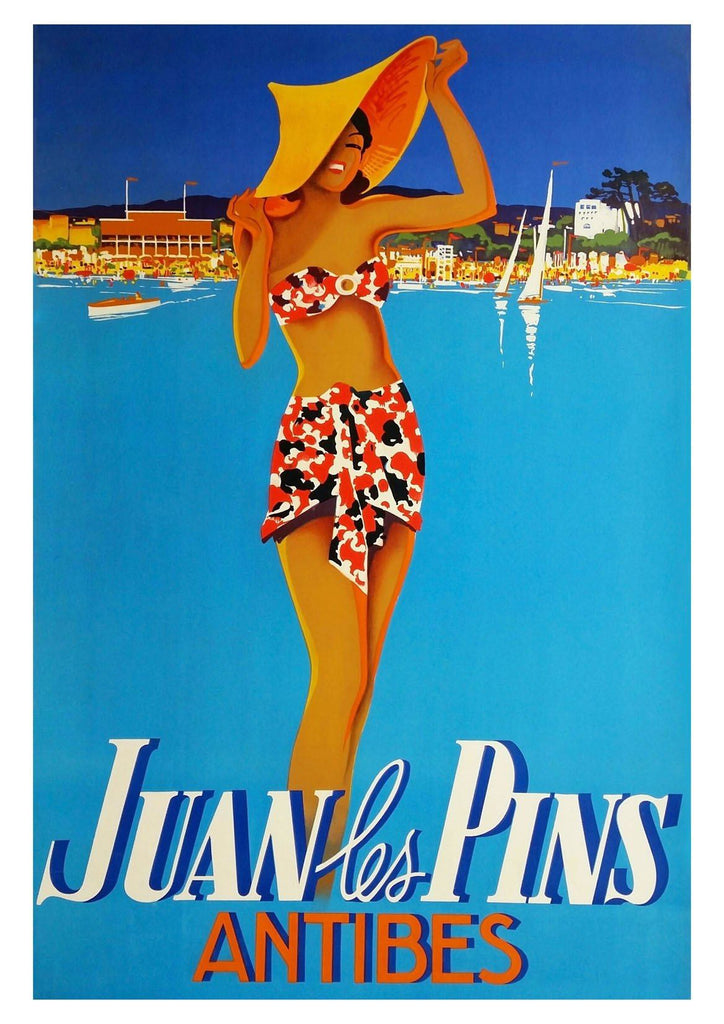 JUAN LES PINS POSTER: Vintage Antibes Holiday Print - The Print Arcade