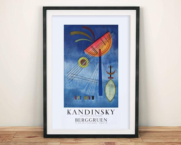 KANDINSKY EXHIBITION POSTER: Reproduction Gallery Poster
