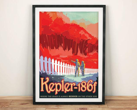 KEPLER 186f POSTER: NASA 'Exoplanet' Space Print - The Print Arcade