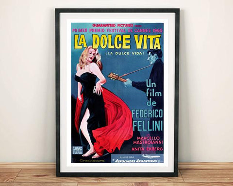 LA DOLCE VITA: Classic Italian Movie Poster Art Reprint - The Print Arcade