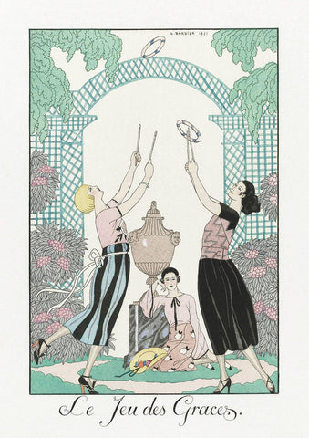GEORGE BARBIER PRINT: Le Jeu des Graces illustration