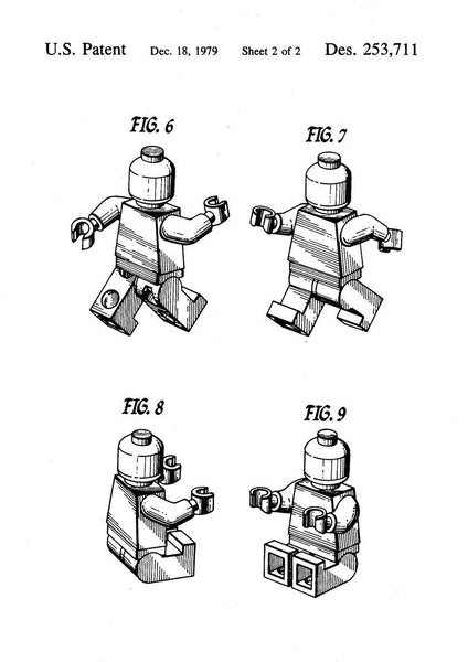 TOY MAN BLUEPRINT: Patent Design Artwork Poster