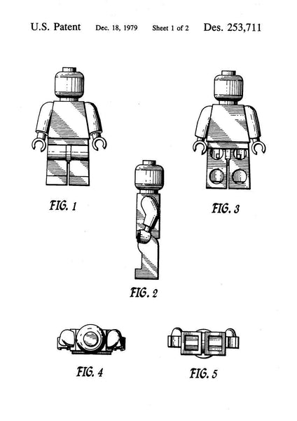 TOY MAN PATENT: Blueprint Design Artwork Poster