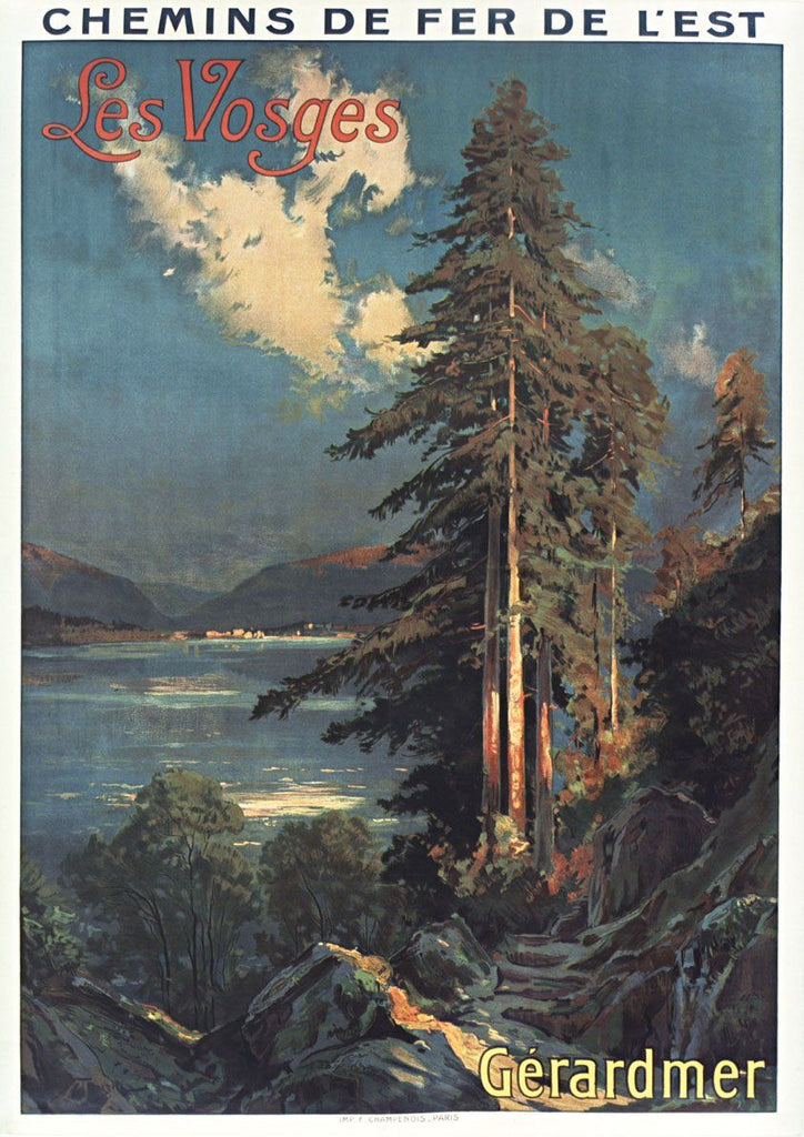 LES VOSGES POSTER: Vintage French Travel Print