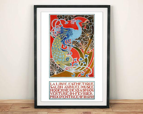 LIBRE ESTHETIQUE POSTER: Peacock Exhibition Print - The Print Arcade
