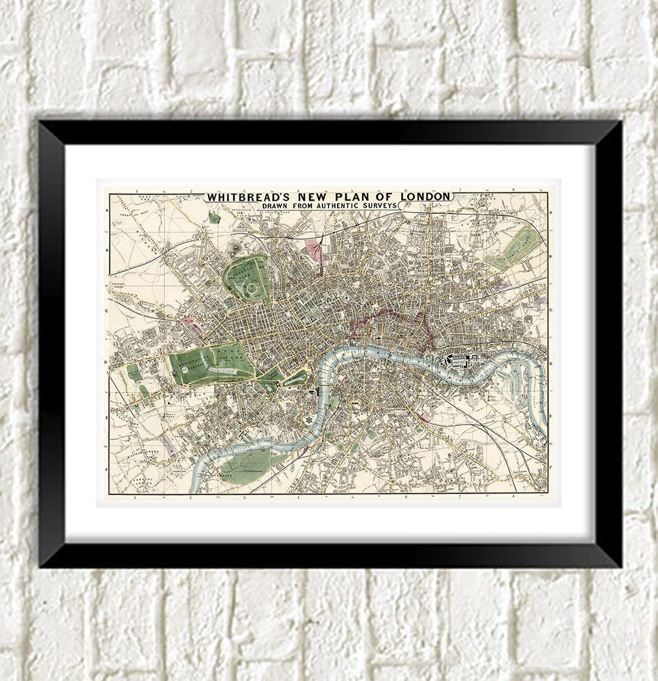 LONDON MAP PRINT: Vintage Atlas Art