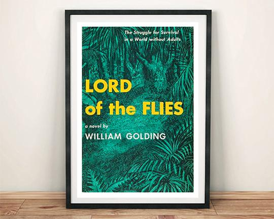 LORD OF THE FLIES POSTER: Vintage Book Cover Art Print - The Print Arcade
