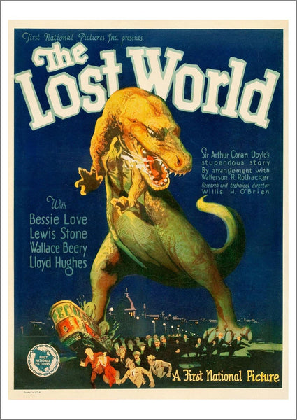 LOST WORLD POSTER: Old Movie Poster Print