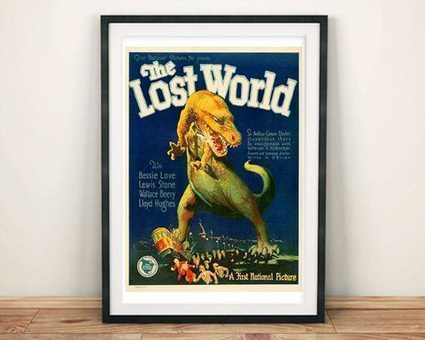 LOST WORLD POSTER: Old Movie Poster Print - The Print Arcade