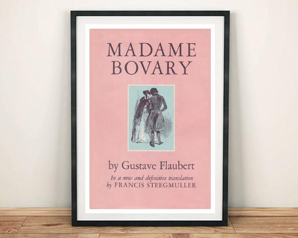 MADAME BOVARY POSTER: Vintage Flaubert Book Cover Art Print