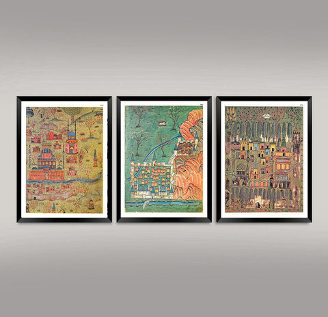 OTTOMAN MAPS: Vintage Cartography Reproduction Art Prints