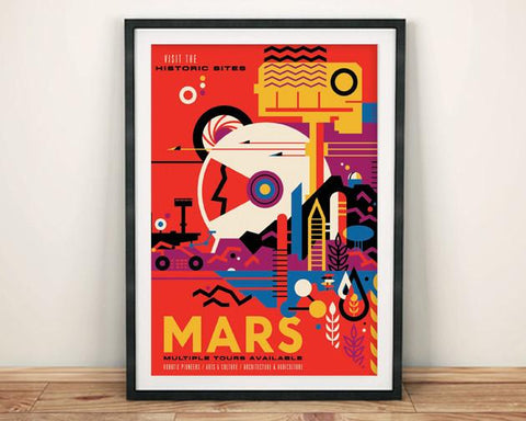 MARS POSTER: NASA 'Visions of the Future' Space Print - The Print Arcade