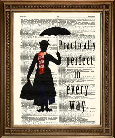 MARY POPPINS PRINT: Practically Perfect Dictionary Art
