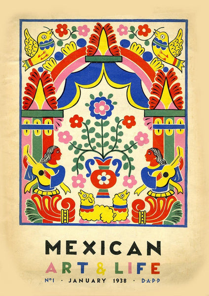 ART & LIFE POSTER: Mexican Museum Exhibition Print - The Print Arcade