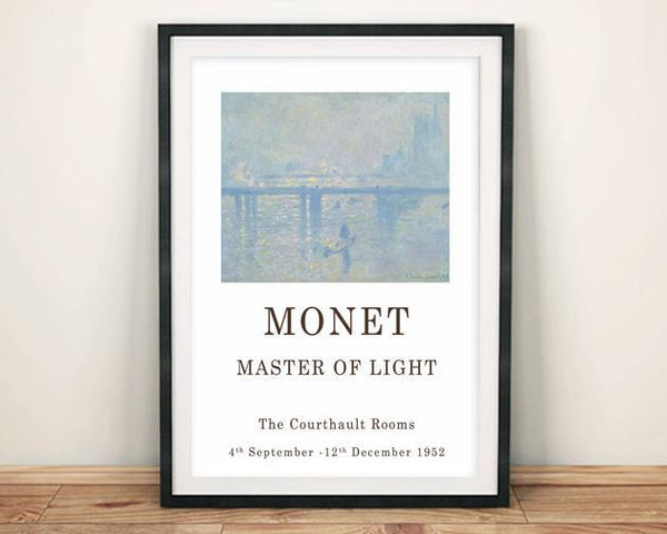 CLAUDE MONET POSTER: Gallery Exhibition Print