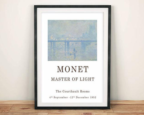 CLAUDE MONET POSTER: Gallery Exhibition Print - The Print Arcade