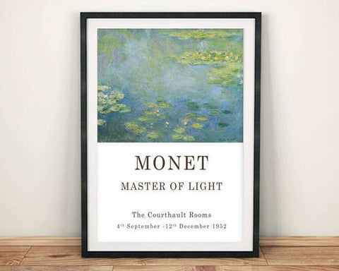 CLAUDE MONET POSTER: Lilypad Exhibition Print - The Print Arcade