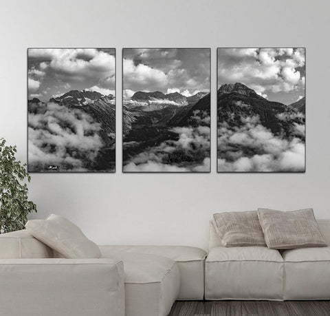 CLOUDY MOUNTAIN PRINTS: Landscape Photo Art