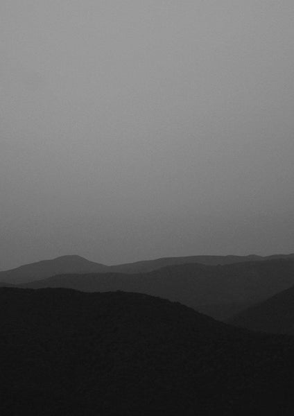 MOUNTAIN LANDSCAPE PRINT: Black and White Wall Art