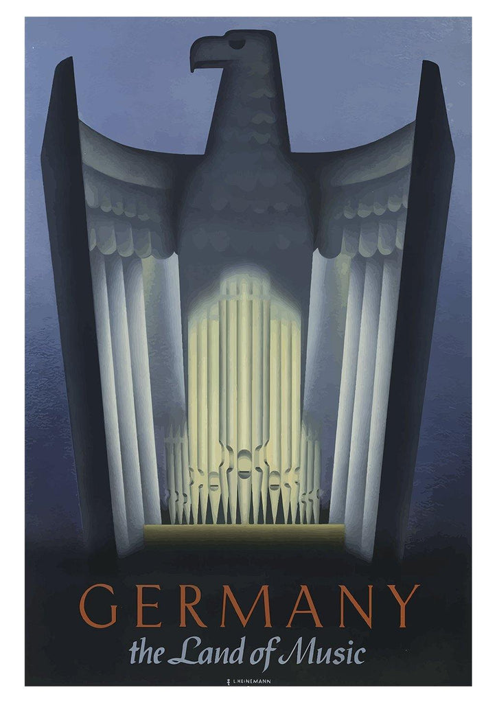 GERMANY POSTER: The Land of Music Vintage Travel Print