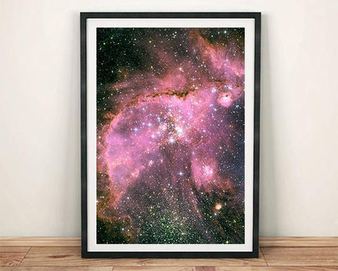 GALAXY PHOTO: NGC 346 Hubble Art Print - The Print Arcade