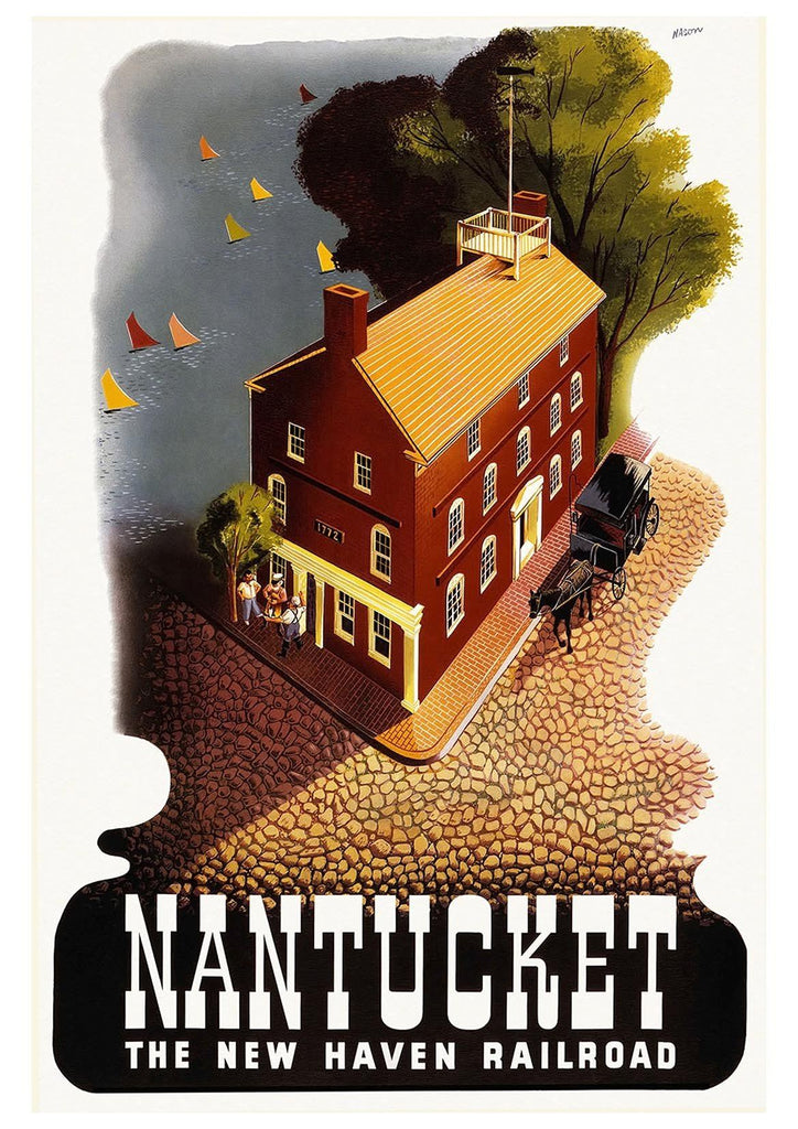 NANTUCKET TRAVEL POSTER: Vintage American Travel Advert - The Print Arcade