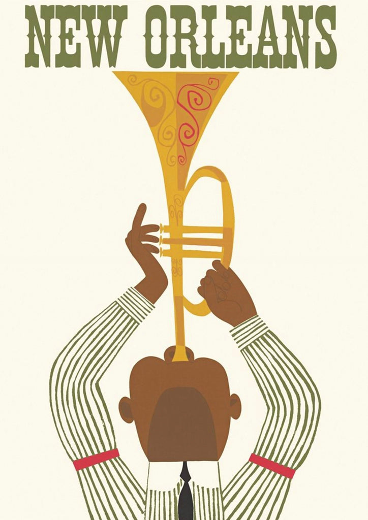 NEW ORLEANS POSTER: Vintage Jazz Music Art Print