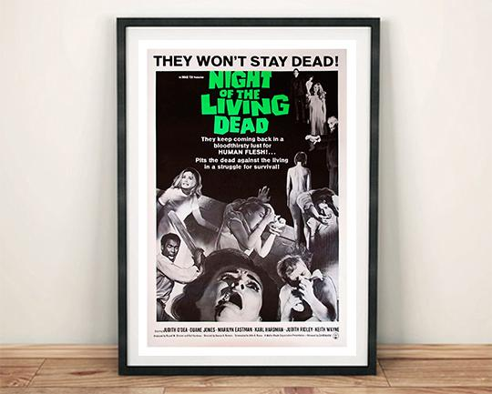 NIGHT OF THE LIVING DEAD: Zombie Movie Poster Print