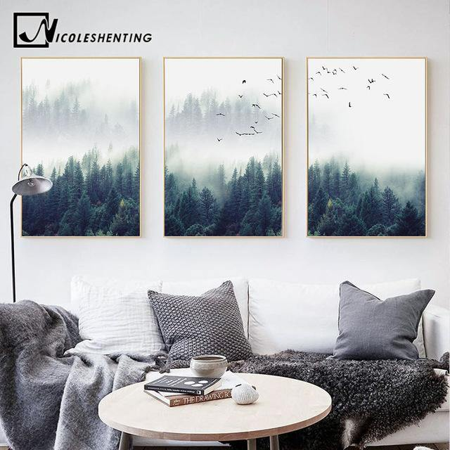 Forest Landscape Wall Art Nordic Scenery Canvas Prints The Print Arcade