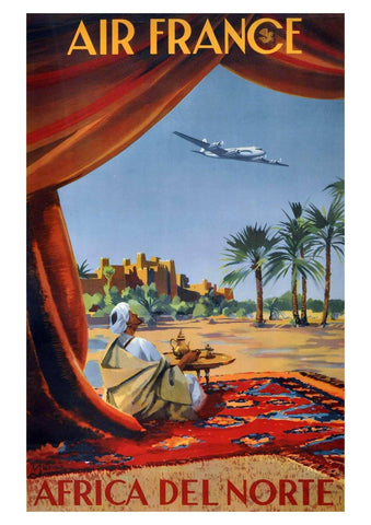 AFRICA TRAVEL POSTER: Vintage Holiday Advert Art Print - The Print Arcade