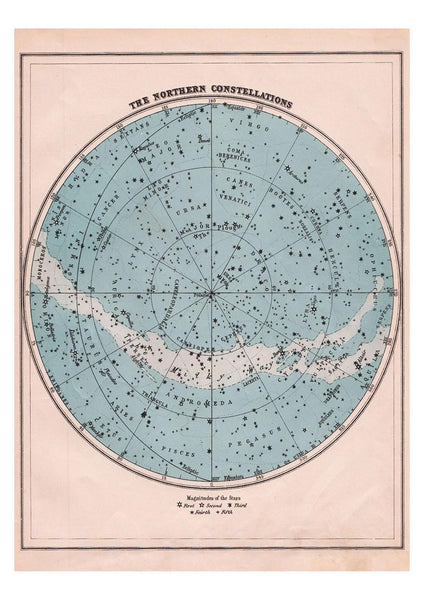 NORTHERN CONSTELLATIONS PRINT: Star Globe Map Art - The Print Arcade