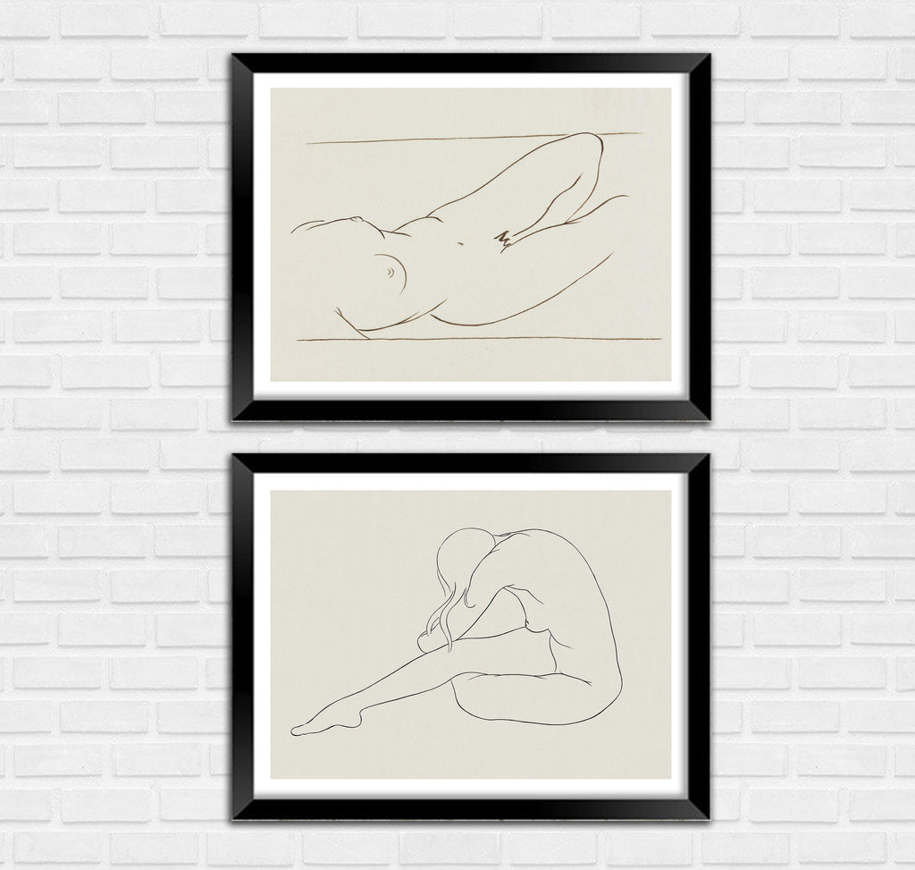 NUDE PRINTS: Reclining Nudes by Ananda Coomaraswamy