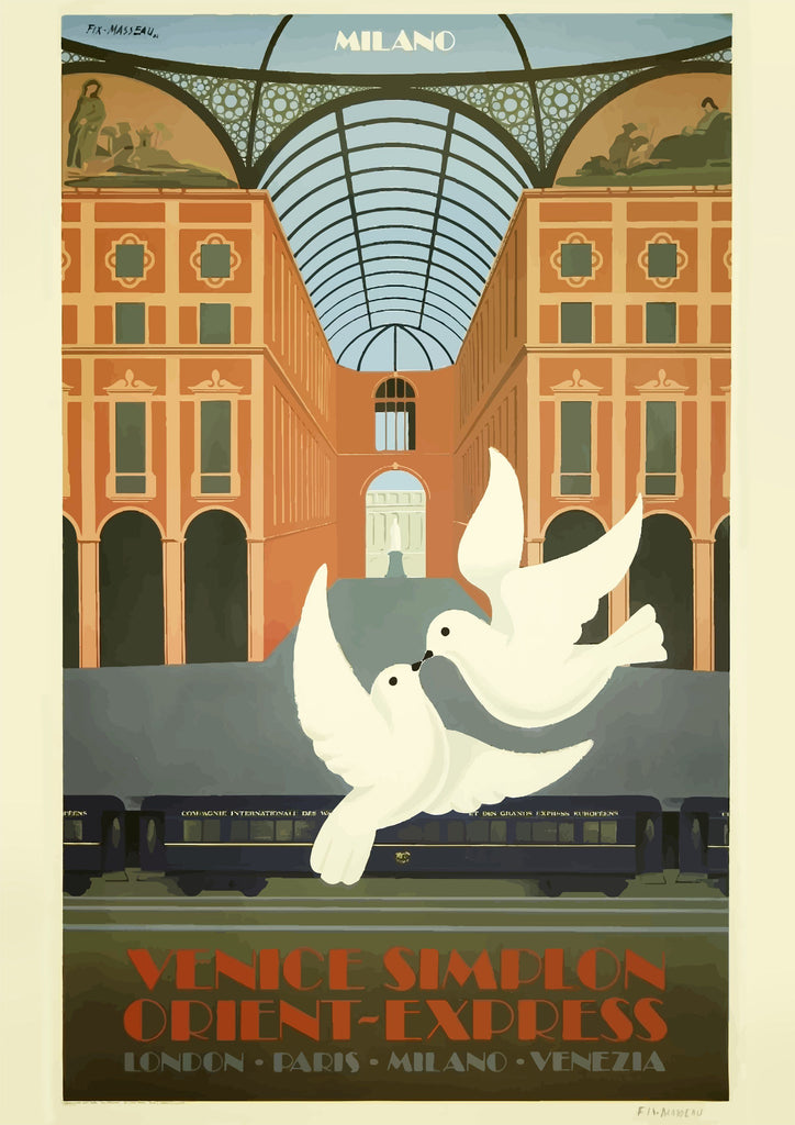 ORIENT EXPRESS POSTER: Venice Simplon Train Station Print - The Print Arcade