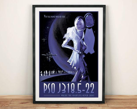 PSO J318 POSTER: NASA 'Exoplanet' Space Print - The Print Arcade