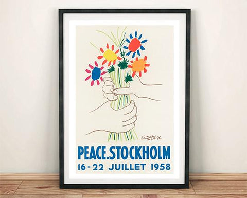 PEACE STOCKHOLM POSTER: Picasso Exhibition Print