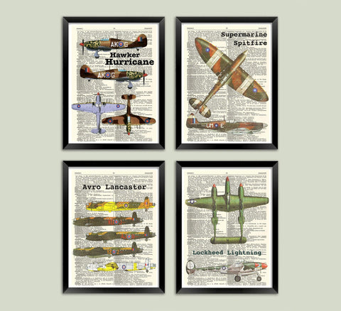AIRCRAFT ART PRINTS: Vintage World War Two Planes Artworks