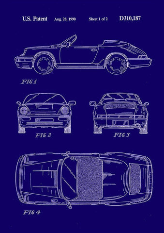 Patent prints tagged 911 the print arcade porsche 911 print patent design blueprint artwork malvernweather Image collections