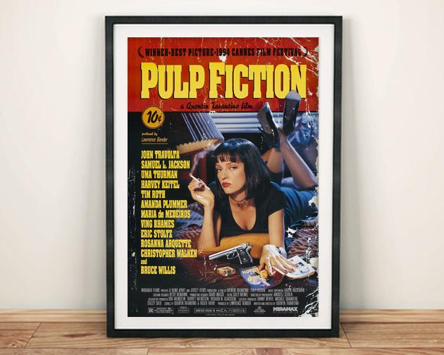 PULP FICTION: Cult Movie Poster Art Reprint - The Print Arcade