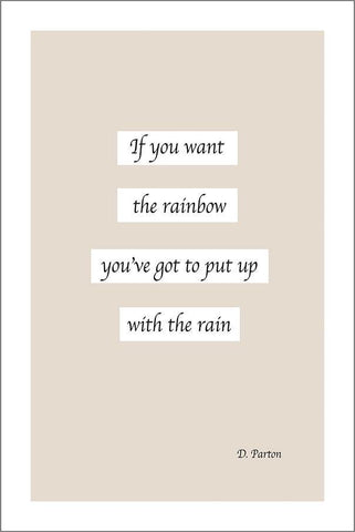 RAINBOW QUOTE: Inspirational Text Poster Art