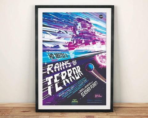 RAINS OF TERROR Poster: NASA JPL HD189733b Space Print